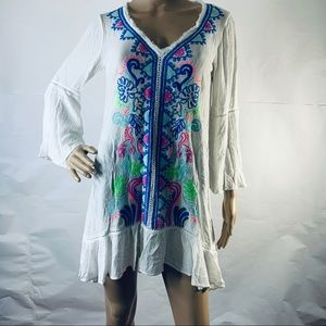 Lily Pulitzer Embroidered Tavvy Cover Up Top Dress